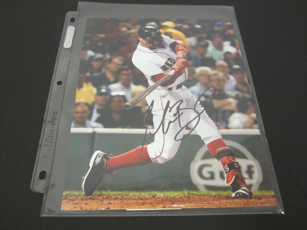MOOKIE BETTS SIGNED AUTOGRAPHED REDSOX 8X10 COA