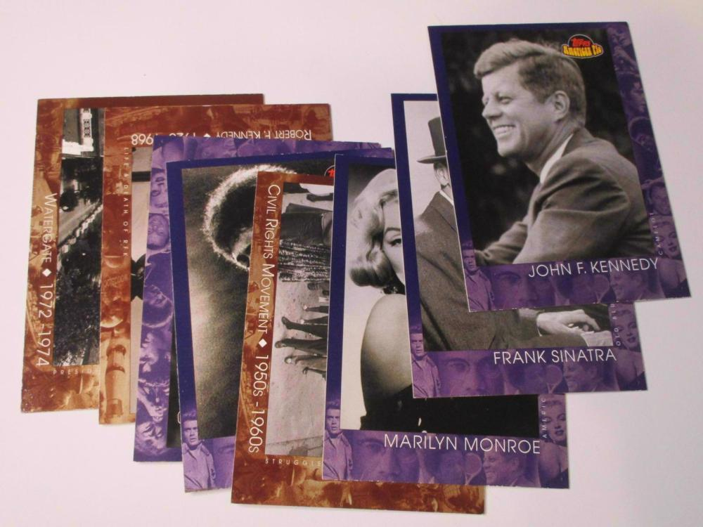 2001 Topps American Pie Lot JFK Frank Sinatra Jimi Hendrix and more