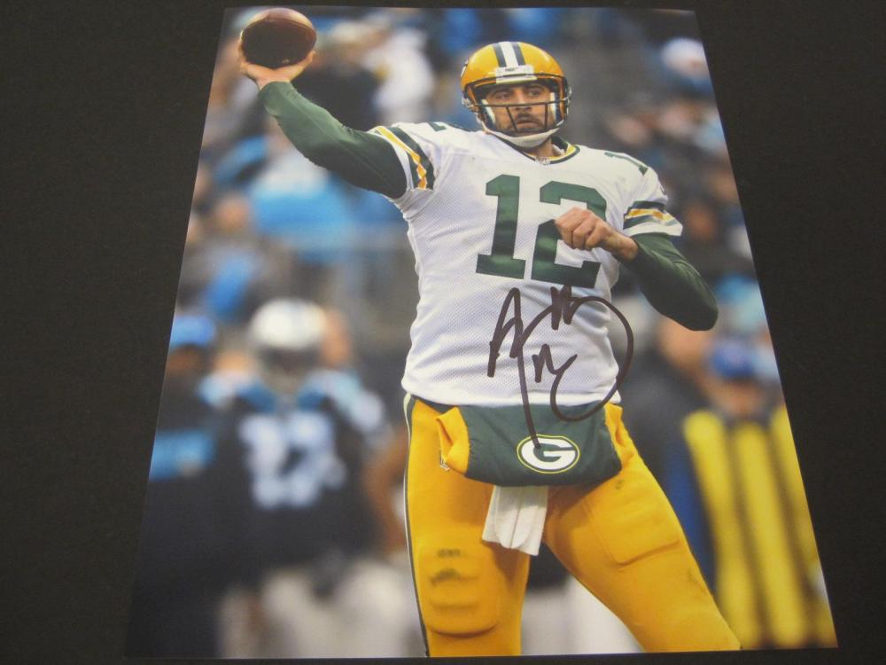 Aaron Rodgers Packers Signed Autographed 8x10 Photo Certified Coa