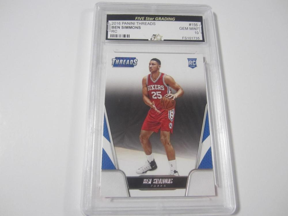 BEN SIMMONS PANINI THREADS ROOKIE GEM MINT 10 PROFESSIONALLY GRADED INVESTMENT