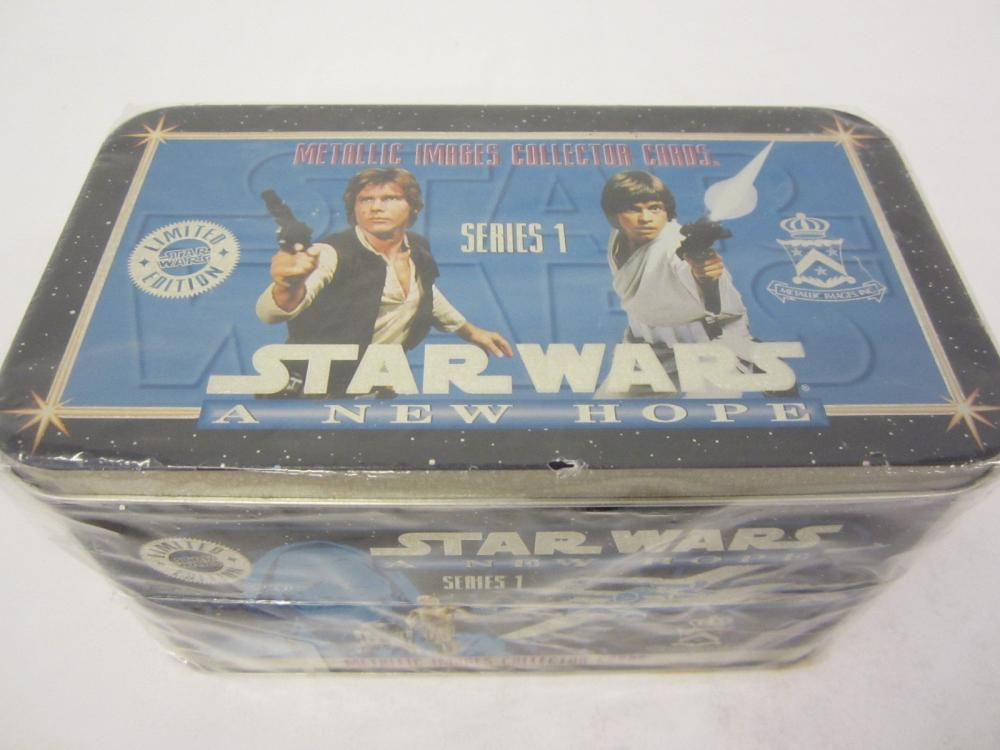 STAR WARS NEW HOPE SERIES 1 METALLIC CARDS SEALED BOX