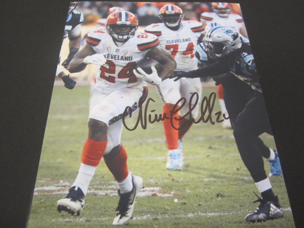 Nick Chubb Browns Signed Autographed 8x10 Photo Certified Coa