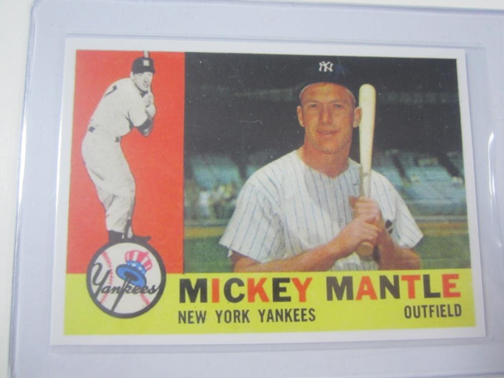 1960 TOPPS MICKEY MANTLE RP