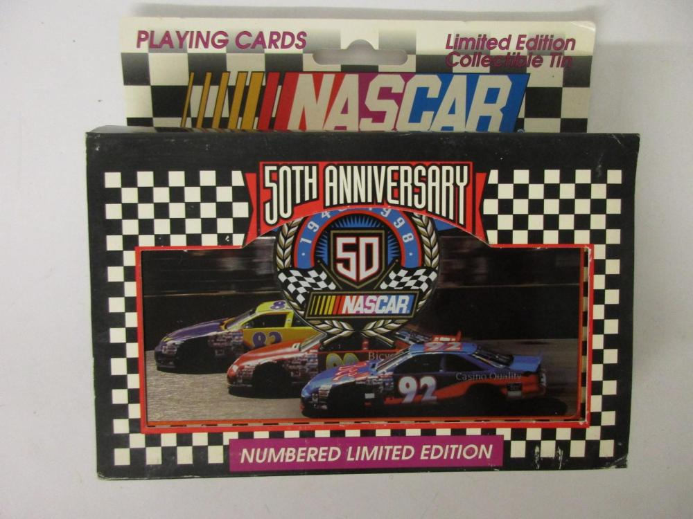 Richard Petty NASCAR 50th Anniversary Playing Cards Ltd Ed Numbered w/tin