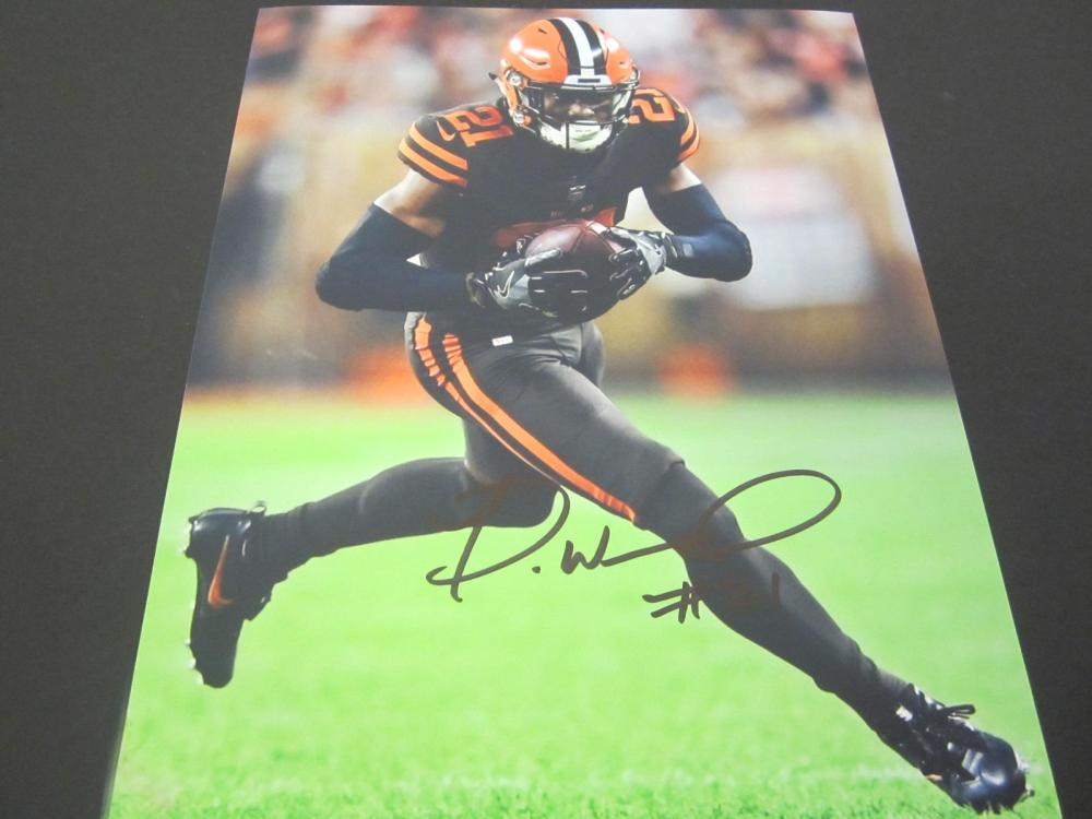 Denzel Ward Browns Signed Autographed 8x10 Photo Certified Coa