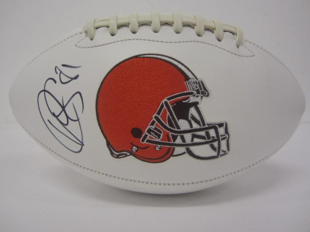 "Rashard ""Hollywood"" Higgins Browns signed autographed Football Certified Coa"