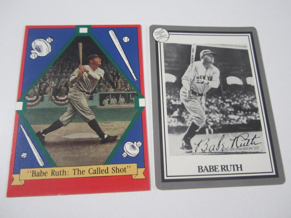 (2)BABE RUTH CARDS MULTI YEARS LOT