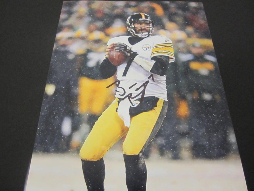 Ben Roethlisberger Steelers Signed Autographed 8x10 Photo Certified Coa