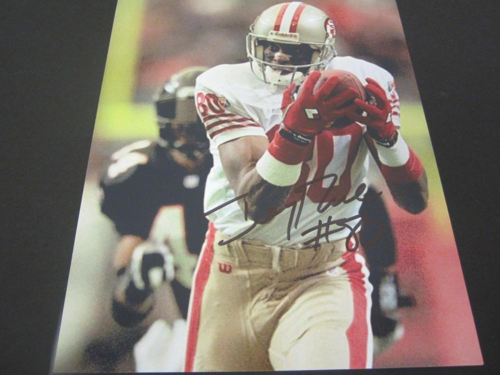 Jerry Rice 49ers Signed Autographed 8x10 Photo Certified Coa