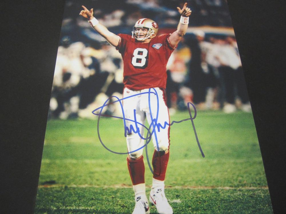 Steve Young 49ers Signed Autographed 8x10 Photo Certified Coa