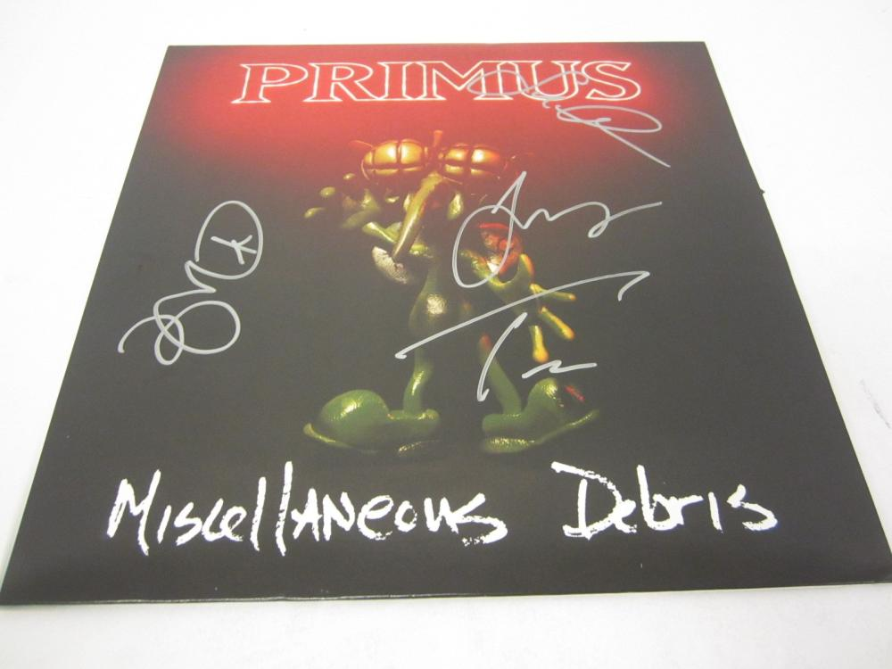 Primus Band signed autographed Record Album Certified Coa
