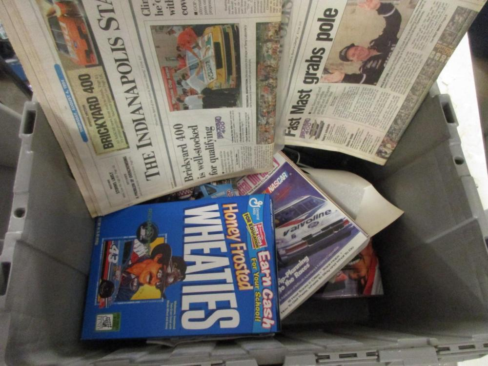 HUGE mixed lot of NASCAR Collectibles photos newspapers & other items Lot #2