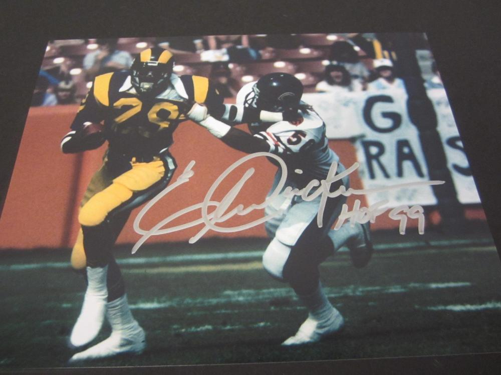 Eric Dickerson Rams Signed Autographed 8x10 Photo Certified Coa
