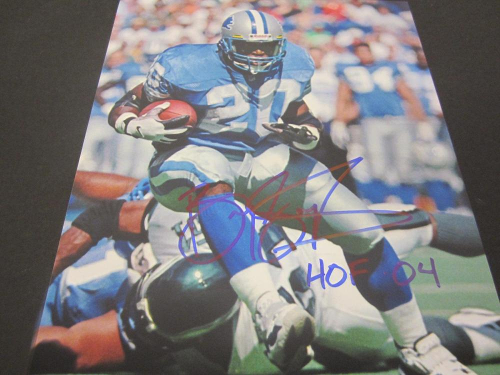 Barry Sanders Lions Signed Autographed 8x10 Photo Certified Coa