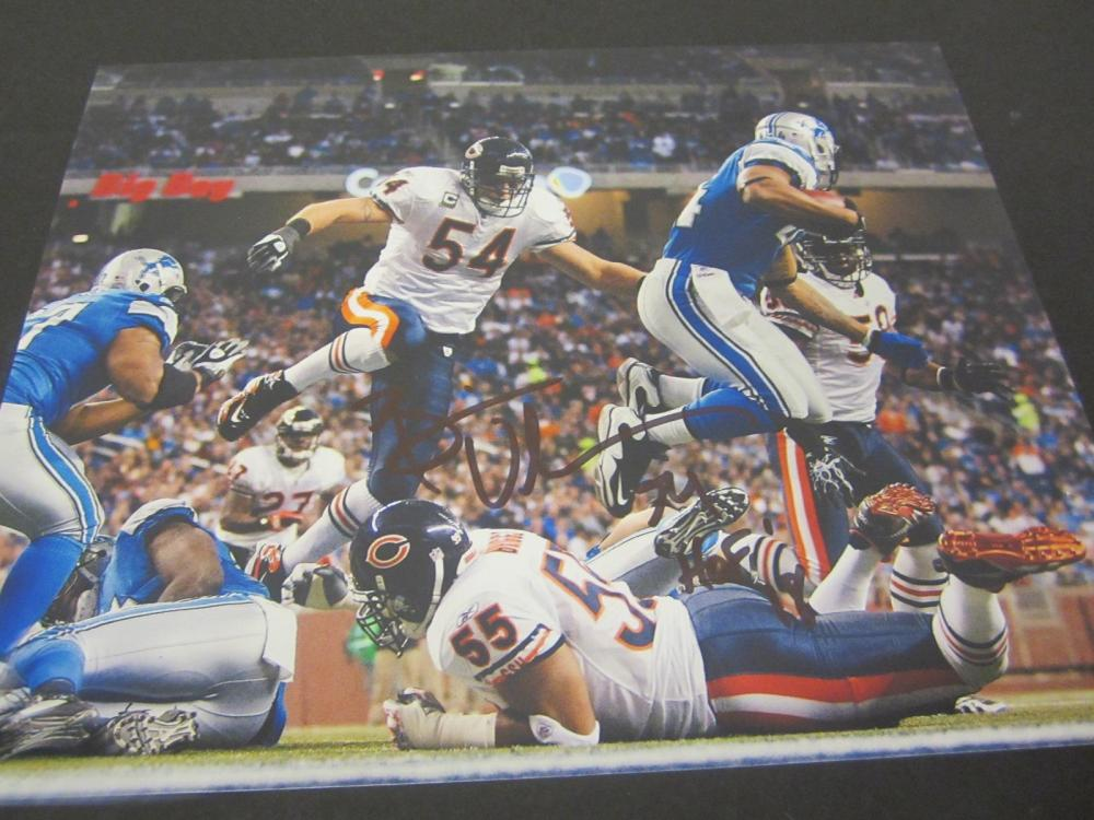 Brian Urlacher Bears Signed Autographed 8x10 Photo Certified Coa