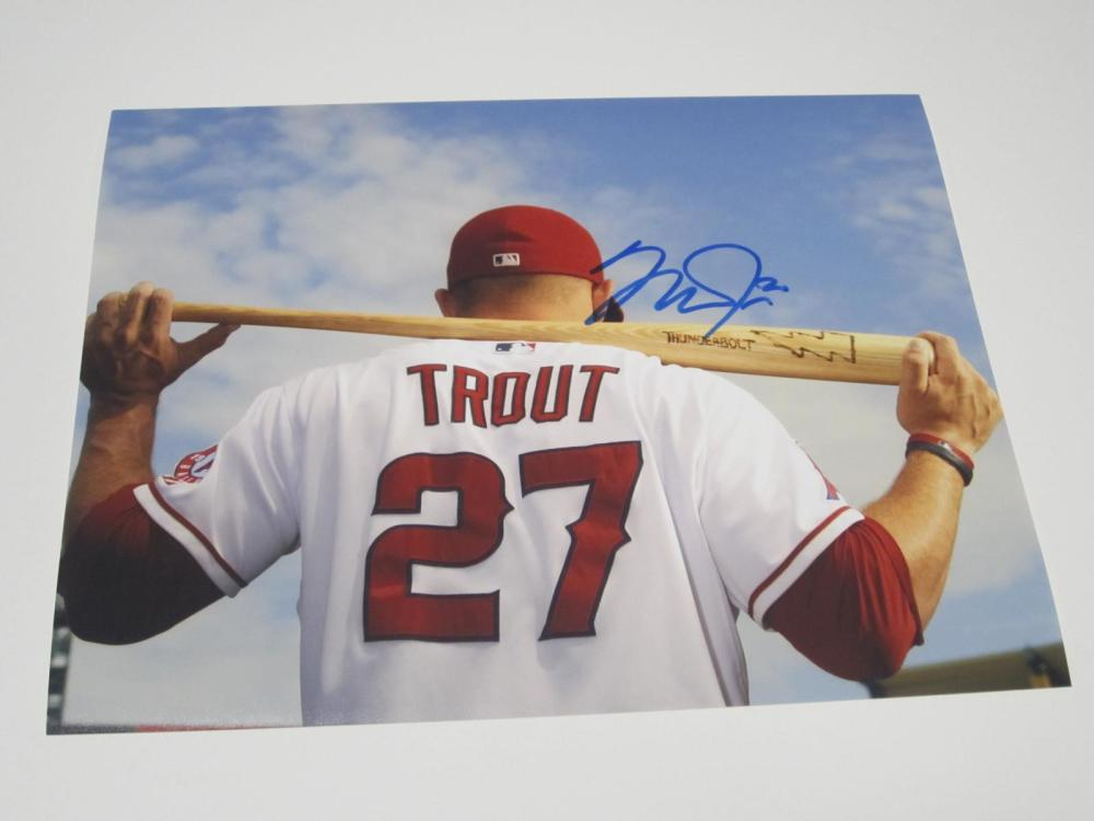 Mike Trout Angels Signed Autographed 8x10 Photo Certified Coa