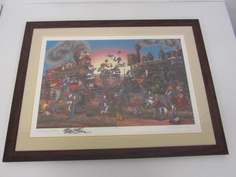 Looney Tunes Hand Signed Autographed 16x20 Proof CAS Certified COA