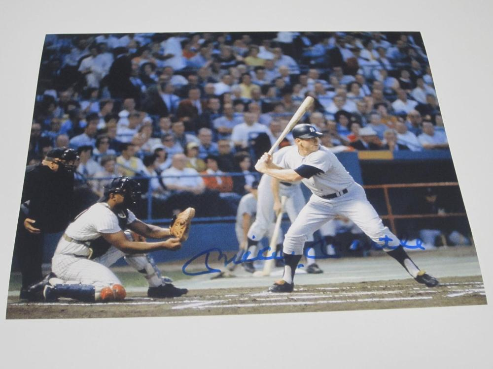 Mickey Mantle Yankees Signed Autographed 8x10 Photo Certified Coa
