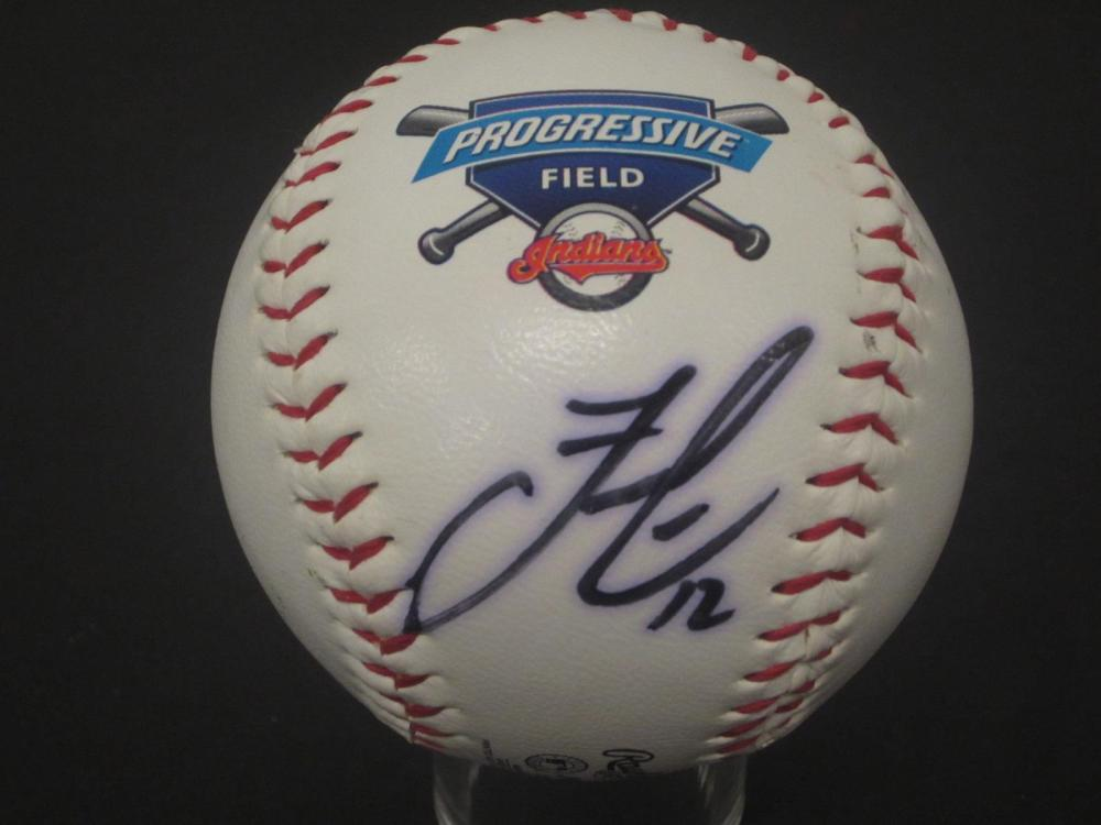 Francisco Lindor Indians signed autographed Baseball Certified 5 STAR Coa