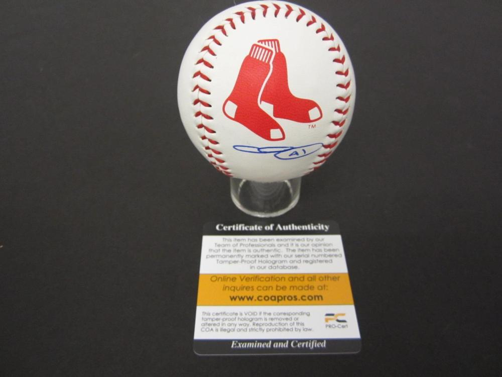CHRIS SALE RED SOX SIGNED AUTOGRAPHED BASEBALL COA PROS CERTIFIED