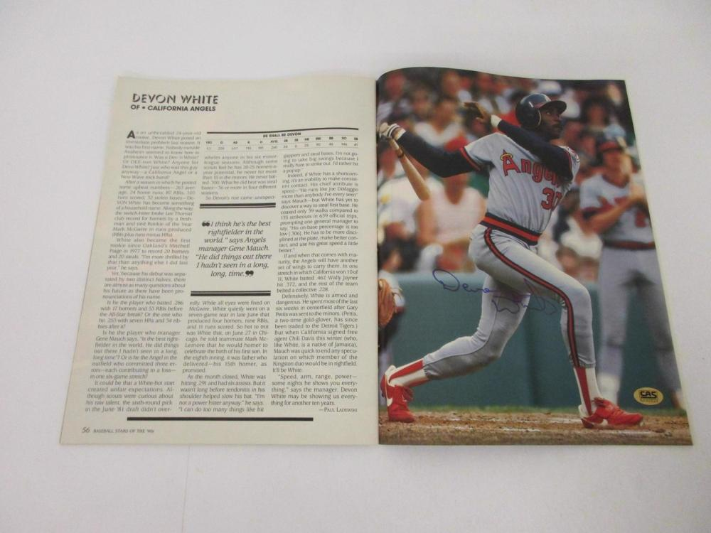 Devon White Angels signed autographed Magazine Certified CAS Coa