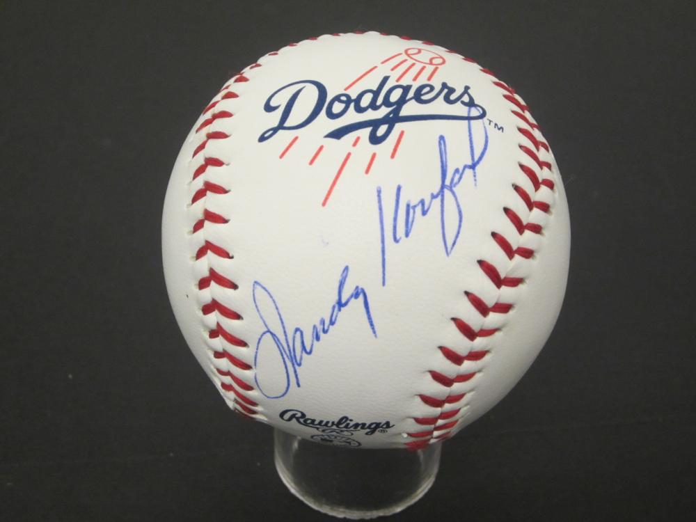 Sandy Koufax Dodgers signed autographed Baseball Certified Coa