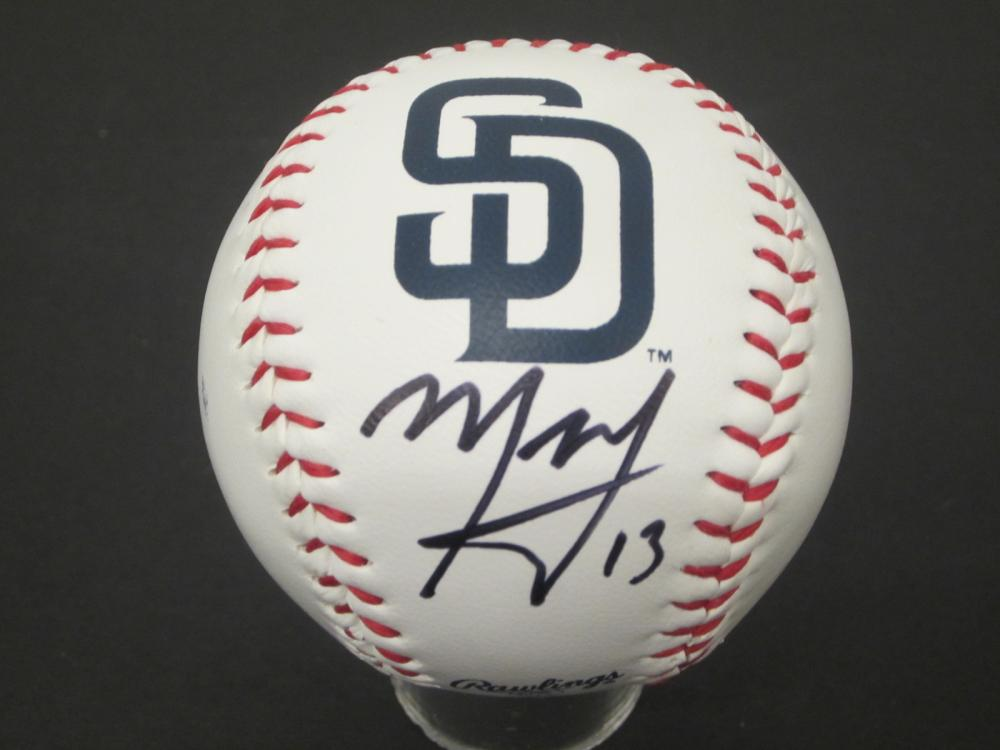 Manny Machado Padres signed autographed Baseball Certified Coa