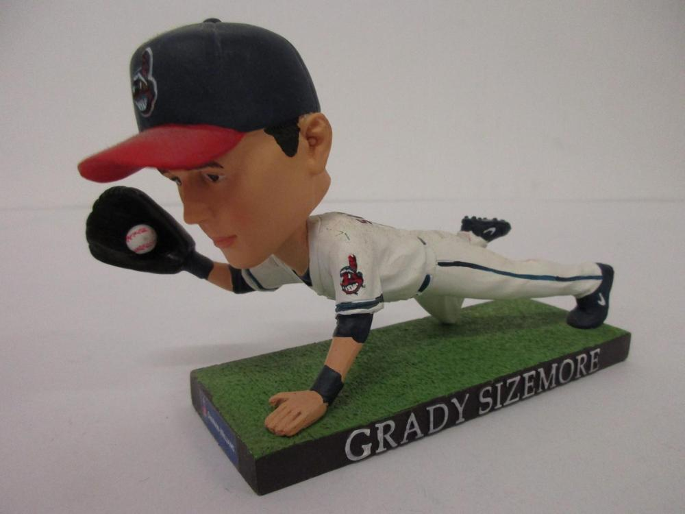 GRADY SIZEMORE CLEVELAND INDIANS SGA DIVING OUT BOBBLEHEAD
