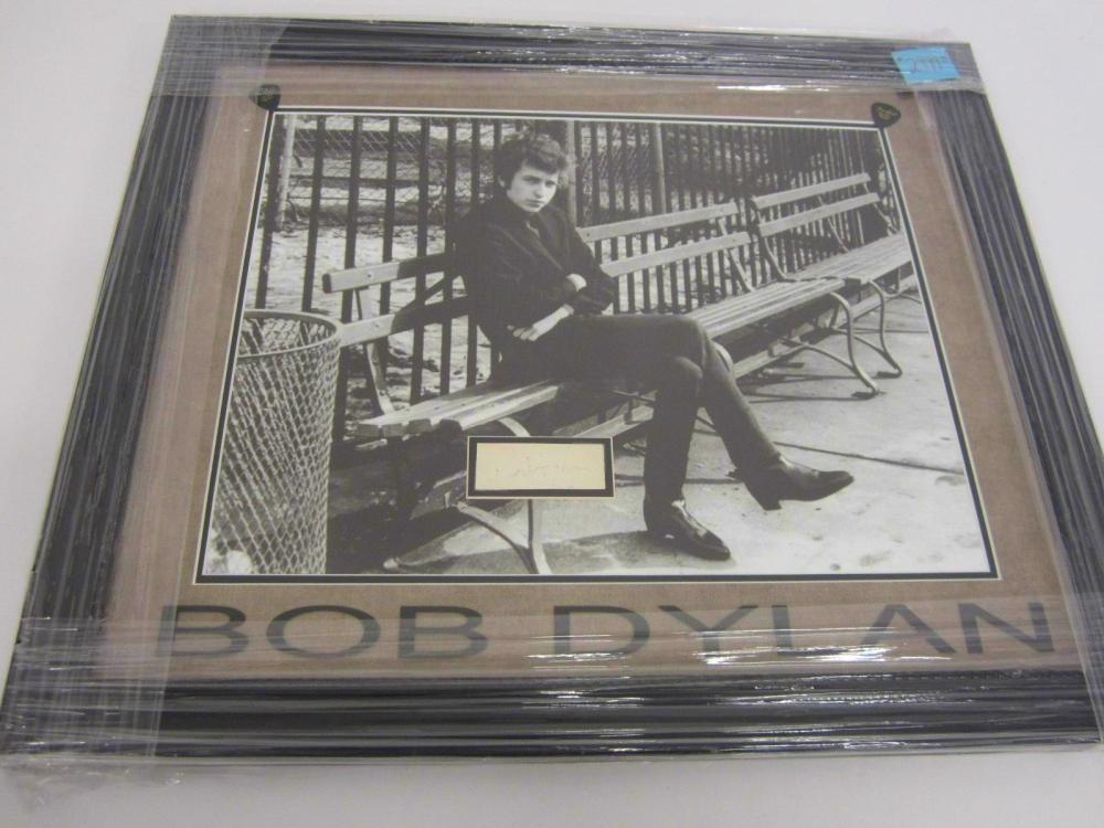 Bob Dylan signed autographed Framed Cut Signature with large photo PAAS Certified Coa