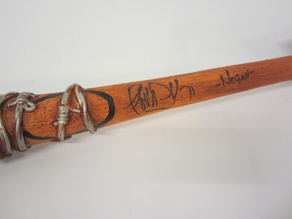 Walking Dead Neegan signed autographed Replica Barb Wire Baseball Bat Certified