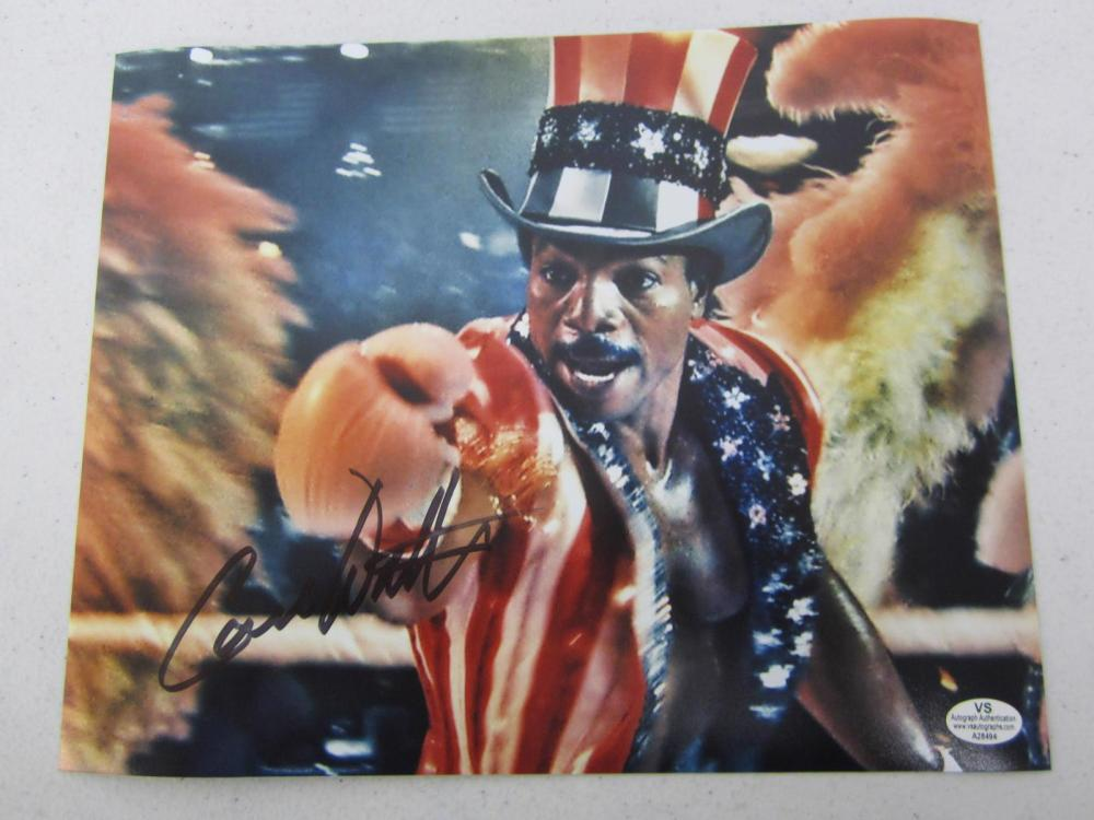 Carl Weathers ROCKY signed autographed 8x10 photo Certified COA