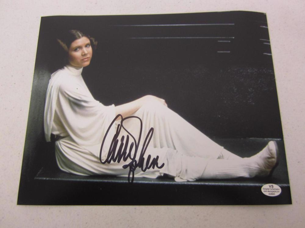 """Carrie Fisher """"Princess Leia"""" signed autographed 8x10 photo Certified COA"""