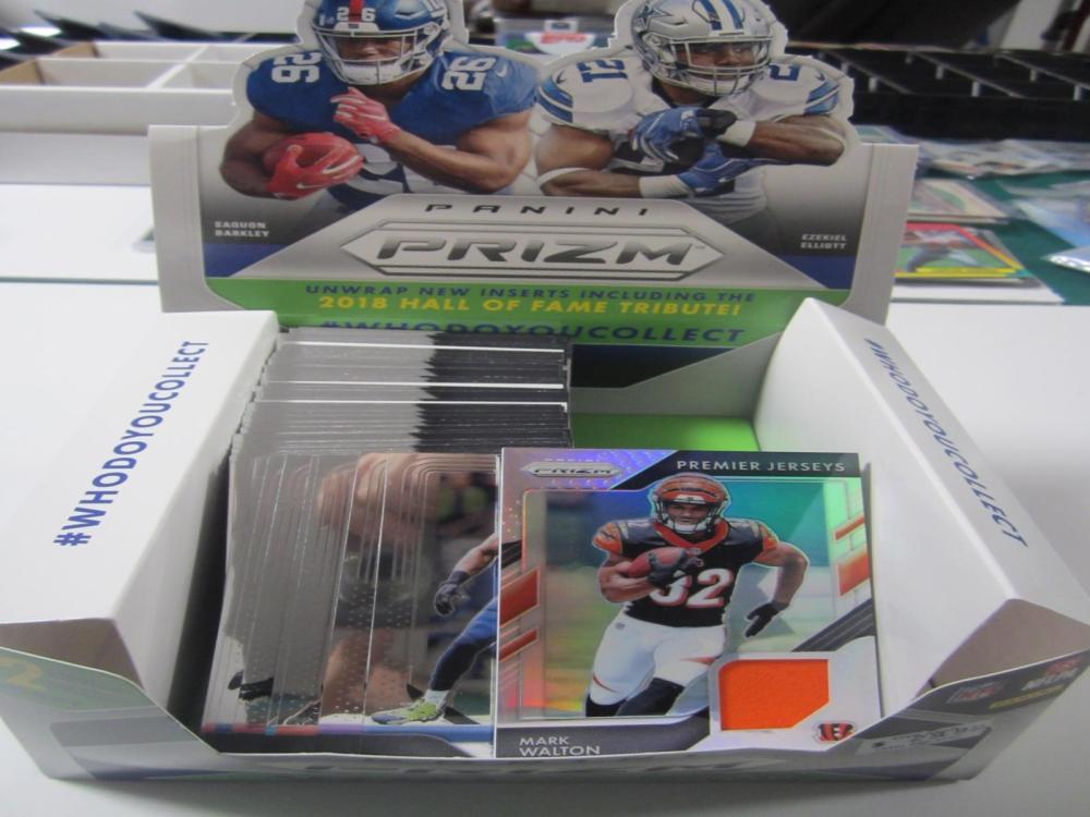 2018 PANINI PRIZM HOBBY BOX OPENED CARD LOT (MARK WALTON)JERSEY CARD