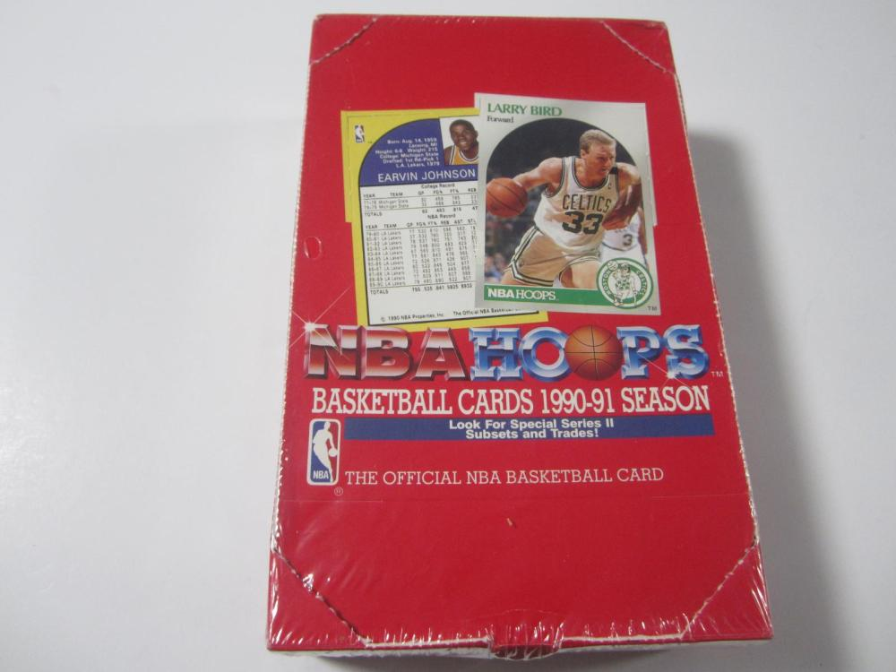 1990 NBA HOOPS BASKETBALL UNOPENED BOX