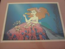 "Lot 8: DISNEY CLASSIC ARTWORK FRAMED LITHO ""ARIEL IN LOVE"" THE LITTLE MERMAID 4533/10000"