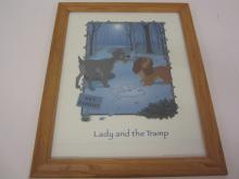 Lot 9: DISNEY LADY AND THE TRAMP ORIGINAL POSTER FRAMED