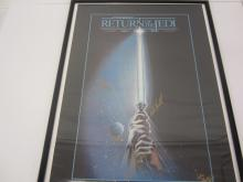 Lot 11: STAR WARS RETURN OF THE JEDI ORIGINAL MOVIE POSTER SIGNED AUTOGRAPHED CARRIE FISHER,MARK HAMILL,HARRISON FORD,ANTHONY DANIELS,DAVID PROWSE COA