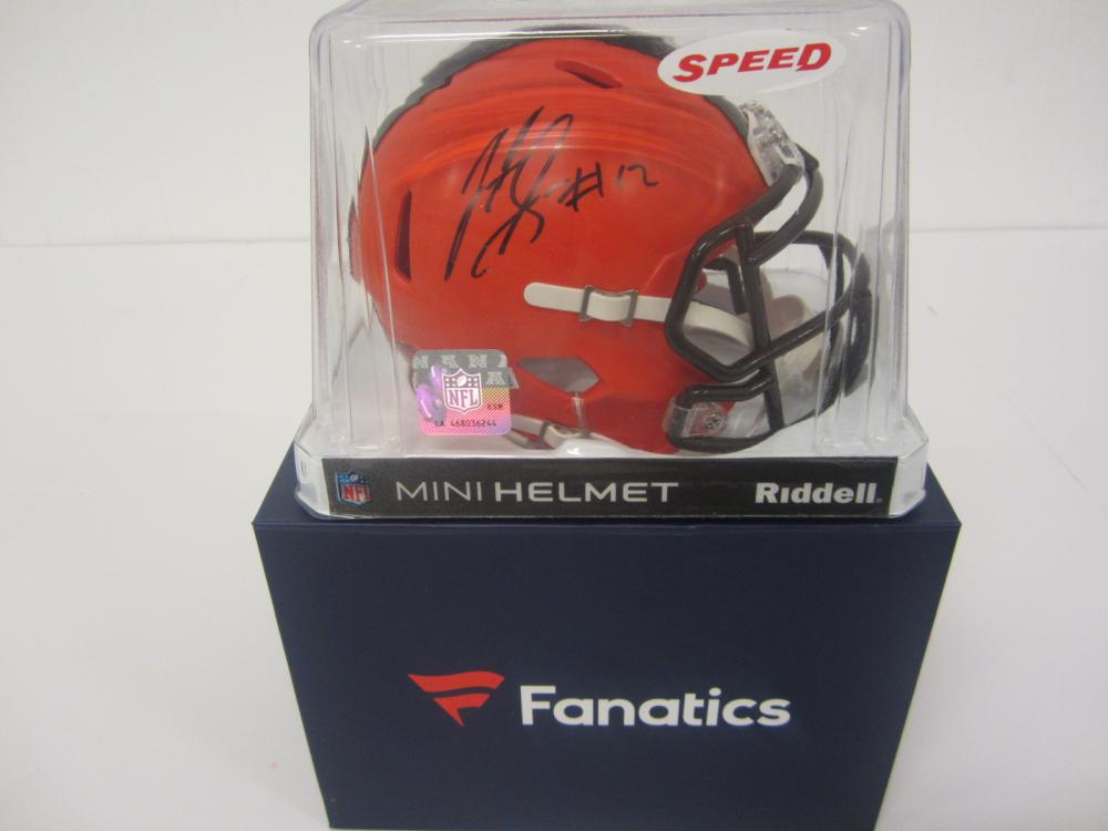 JOSH GORDON SIGNED AUTOGRAPHED BROWNS MINI HELMET FANATICS COA