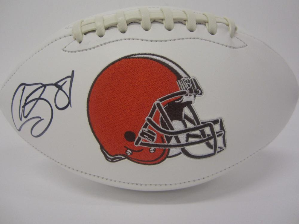 HOLLYWOOD HIGGINS SIGNED AUTOGRAPHED BROWNS FOOTBALL COA