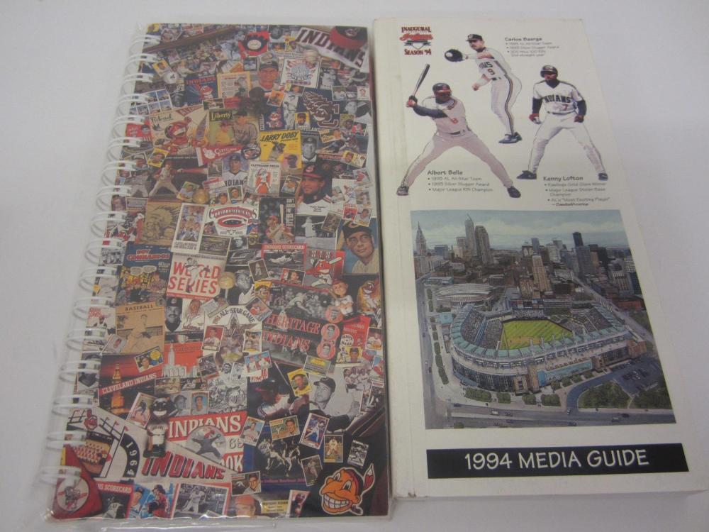 Lot 16: CLEVELAND INDIANS MEDIA GUIDS MULTI YEARS