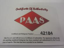 Lot 20: TIM TEBOW SIGNED AUTOGRAPHED METS MINI BAT PAAS COA