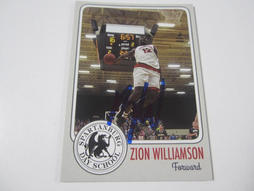 ZION WILLIAMSON SIGNED AUTOGRAPHED DUKE CARD COA