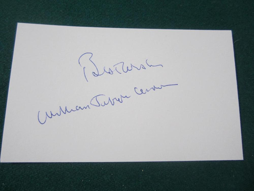 BILL CLINTON SIGNED AUTOGRAPHED 3X5 INDEX CARD COA