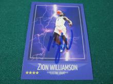 Lot 34: ZION WILLIAMSON SIGNED AUTOGRAPHED DUKE CARD COA