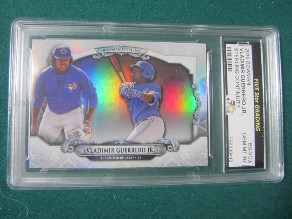 2018 BOWMAN VLADIMIR GUERRERO JR. STERLING GRADED GEM MINT 10