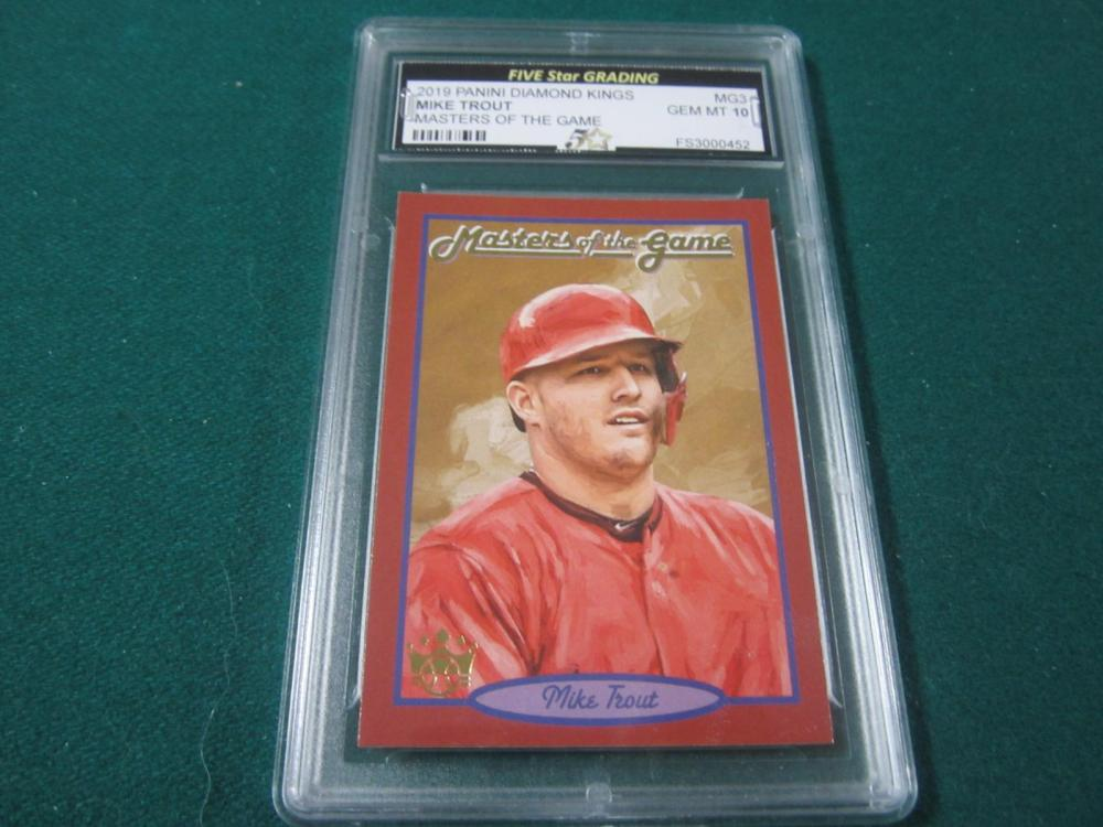 2019 PANINI DIAMOND KINGS MIKE TROUT GRADED GEM MINT 10