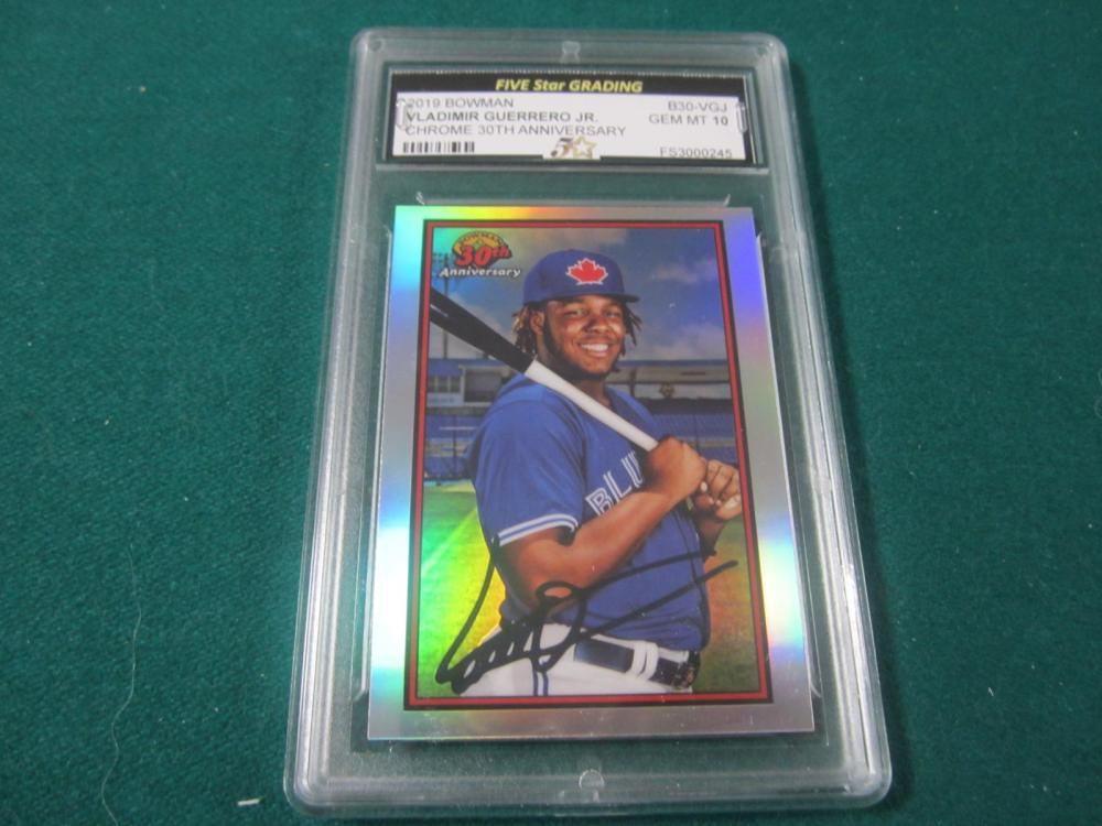 2019 BOWMAN VLADIMIR GUERRERO JE. CHROME GRADED GEM MINT 10