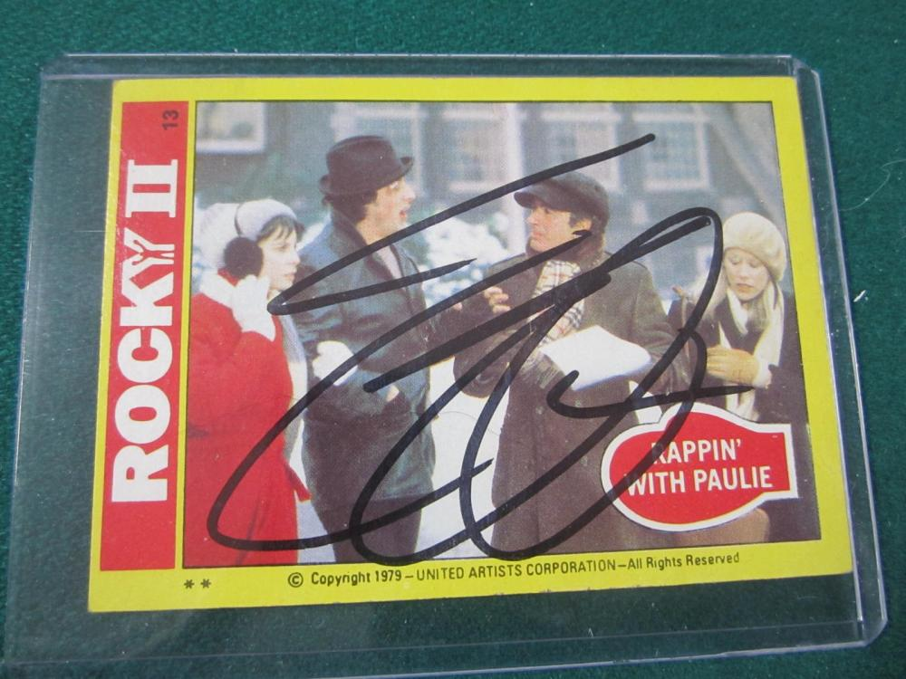 Lot 39: SYLVESTER STALLONE SIGNED AUTOGRAPHED ROCKEY CARD COA