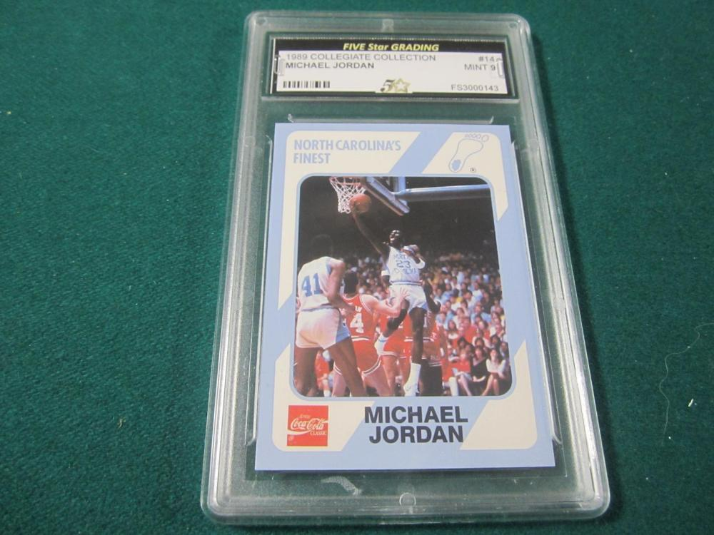 1989 COLLEGIATE COLLECTION MICHAEL JORDAN GRADED MINT 9