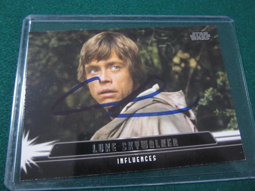 GEORGE LUCAS SIGNED AUTOGRAPHED STAR WARS CARD COA
